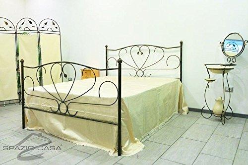 Spazio Casa Bett Aus Schmiedeeisen Love Singolo 85 X 195 Cm