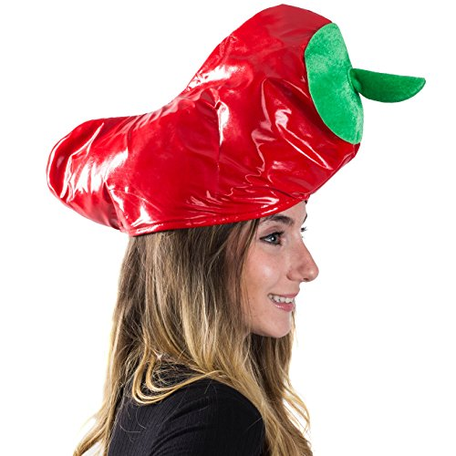 [Red Pepper Hat - Adults Cinco De Mayo Party Hats - Novelty Hats by Funny Party Hats] (Chili Cook Off Costumes)