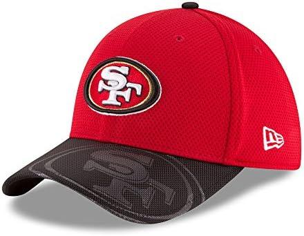 7f5a97fe435 New Era San Francisco 49ers On-Field Sideline 39THIRTY Flex Fit Hat Cap  Medium