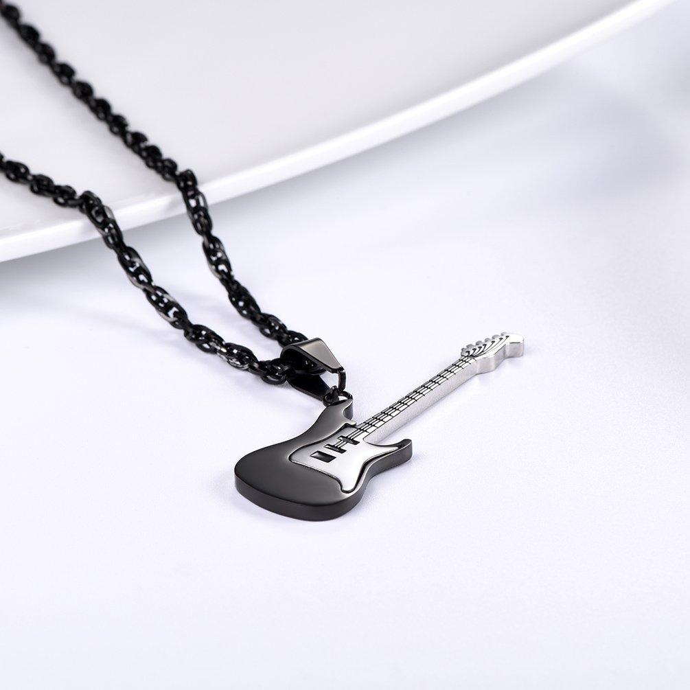 PROSTEEL Chapado en Oro 18K Collar Hombre de Guitarra Electrónica ...