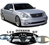 LED Lights for Lexus LS 430 Xenon White LED Package Upgrade - Interior + License plate / Tag + Vanity / Sun Visor + Reverse / Backup (20 pieces)