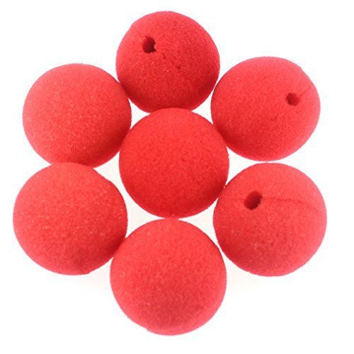 [Banners 25PCS Foam Clown Nose Circus Party Halloween Costume Cosplay & More Red Nose] (Halloween Clowns)