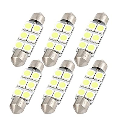 Amazon.com: eDealMax 6PCS 41mm 6-LED 5050 SMD Blanco bóveda del Adorno de la luz 211-2 212-2 Interna: Automotive