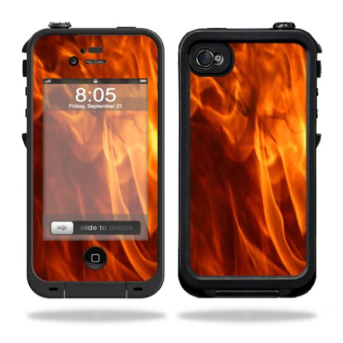 Mightyskins Protective Vinyl Skin Decal Cover for LifeProof iPhone 4 / 4S Case wrap sticker skins Backdraft