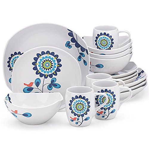 Dansk Classic Fjord Tweet 16 Piece Dinnerware Set
