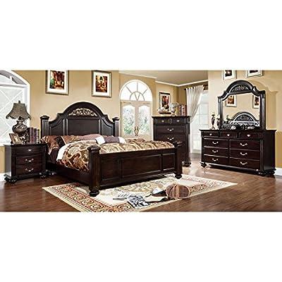 Syracuse Transitional Dark Walnut Finish 6-Piece Bedroom Set