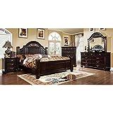 Syracuse Transitional Dark Walnut Finish Queen Size 6-Piece Bedroom Set