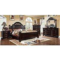 247SHOPATHOME Idf-7129EK-6PC Bedroom-Furniture-Sets, King, Walnut