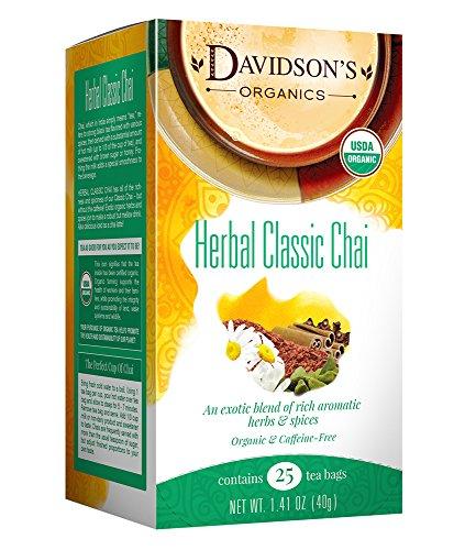 Davidson's Tea Herbal Classic Chai, 25-Count Tea Bags (Pack of 6)