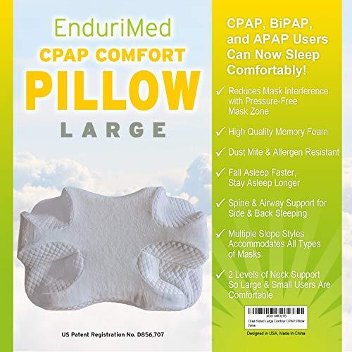 CPAP Pillow - Memory Foam Contour Design Reduces Face Mask Pressure & Air Leaks - 2 Head & Neck...
