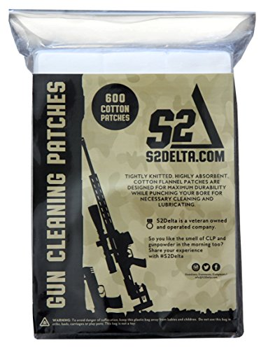 S2Delta Gun Cleaning Patches, Premium Quality, Highly Absorbent, Bulk Cleaning Patches,5.56,7.62, 9mm.45.308 (9mm/.45/.38/ (2.25
