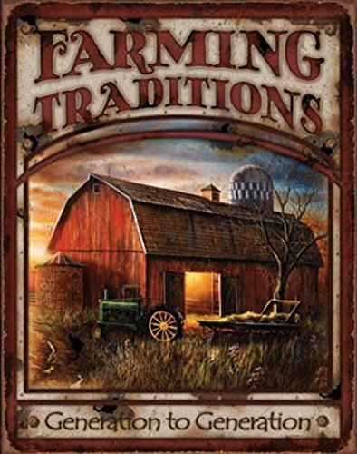 Farming Traditions Tin Metal Sign: Generation to Generation