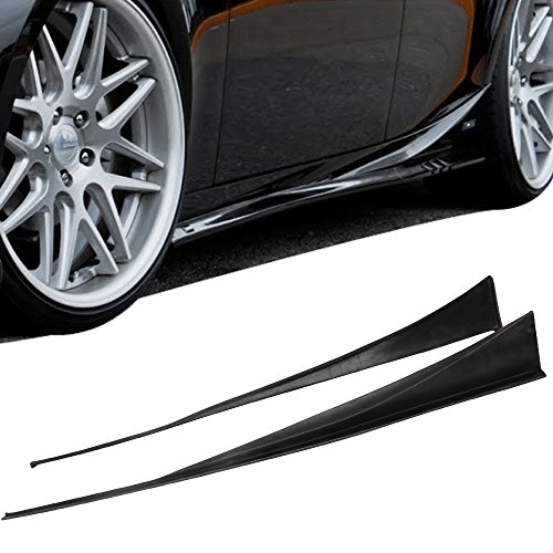 Side Skirts Fits 2014-2016 Lexus IS250 IS350 ISF | IKON Style Black PU Sideskirt Rocker Moulding Air Dam Chin Diffuser Bumper Lip Splitter by IKON MOTORSPORTS| ()
