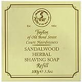 Taylor of Old Bond Street Sandalwood Hard Shaving Soap Refill, 100 Gram