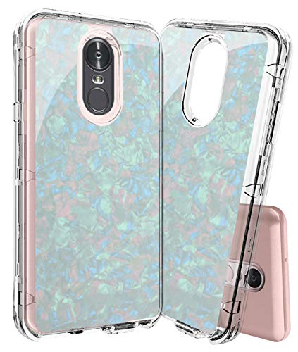 LG Stylo 4 Case LG Q Stylus Case Three Layer Design Cute Shockproof Heavy Duty Full-Body Protective Hard Shell Clear Armor Bumper TPU Soft Rubber Silicone Phone Cover for LG ()