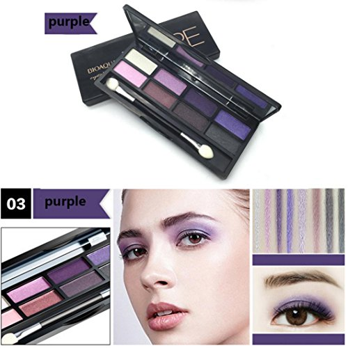 8 Colors Eyeshadow, Cosmetics Palette for Home and Professio