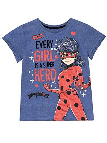 Miraculous Ladybug Girls' Lady Bug T-Shirt Size 7 Blue