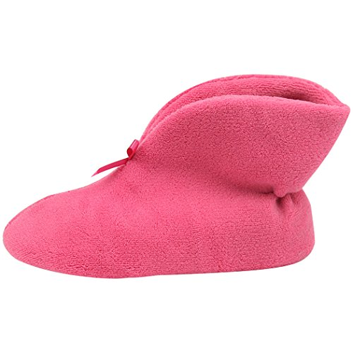 Slip Home Indoor Coral Boots House Rose Non Red Warm Womens Winter Slipper Velvet Shoes Slippers x4wnqavCFx