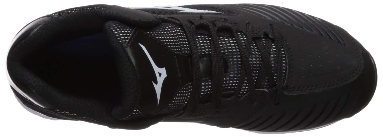 Mizuno Women's 9-Spike Advanced Sweep 4 Mid Metal Softball Cleat Shoe, Black/White 6 B US by Mizuno (Image #7)