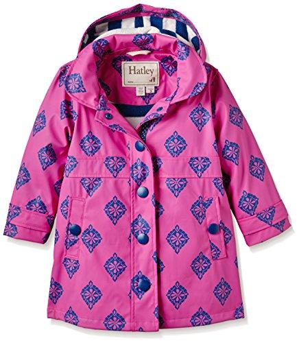 Hatley Little Girls' Splash Jacket Medallions, Pink, 4 by Hatley
