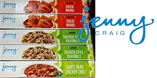 Jenny Craig Weight Loss Meals Bars Unfrozen (Lunch, Dinner, 20)