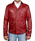 MSHC Men's Fight Club Faux Leather Coat Medium Burgundy