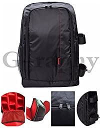 G-raphy Camera Backpack Camera bag Laptop Backpack for DSLR SLR Cameras and etc in Red