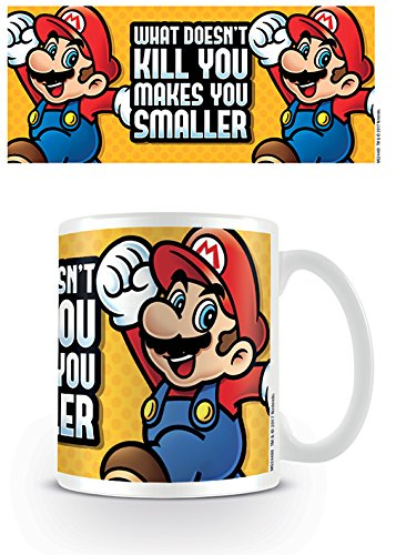 Super Mario Bros. - Ceramic Coffee Mug (What Doesn't Kill You Makes You Smaller)