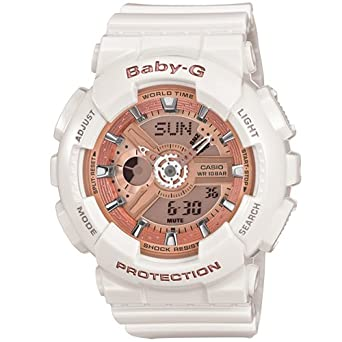 02c7a70e5f5d2 Amazon.com  Casio Baby-G BA-110 White Pink (BA-110-7A1DR)  Watches