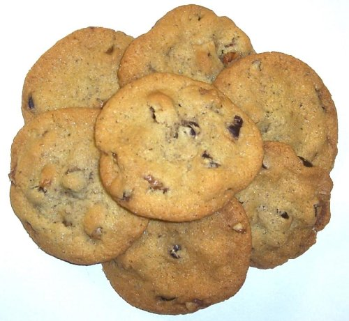 Scott's Cakes Chocolate Chip Cookies with Walnuts in a 1 Pound White (Scotts Cakes Walnut)