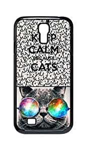 Cool Painting because cats Snap-on Hard Back Case Cover Shell for Samsung GALAXY S4 I9500 I9502 I9508 I959 -866