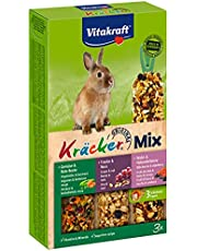 Kräcker pour lapins avec légumes, noix et fruits