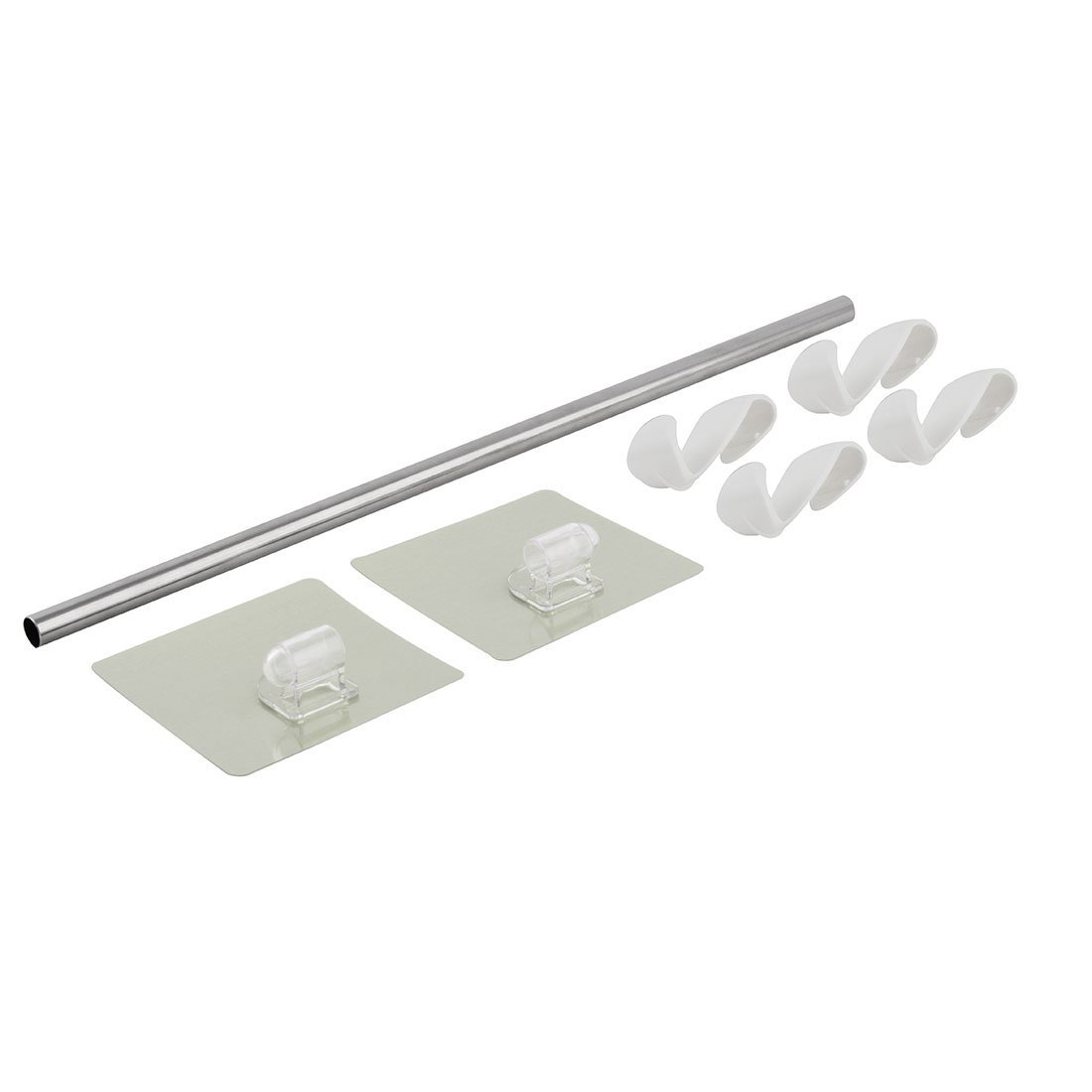 eDealMax plástico de baño 4 ganchos de montaje en pared Copa de succión del sostenedor del estante que cuelga del gancho - - Amazon.com