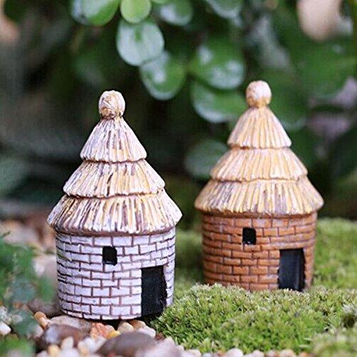 Micro Landscape Decorations Resin Mimi House Garden DIY D?cor,Size : Small