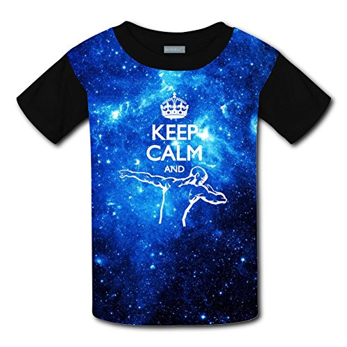 Qualra Kids Fashion Keep Calm and Dabbing 3D Print T-Shirts Short Sleeve Tees
