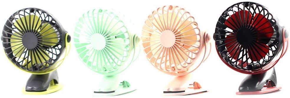 Color : Green Mini Fan Portable Desktop Fan USB Desktop Fan Mini Portable Clip Fan 360 Degree Rotating Office Car Fan