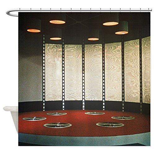 CafePress - Star Trek Teleporter Room - Decorative Fabric Shower Curtain (Star Trek Curtain)
