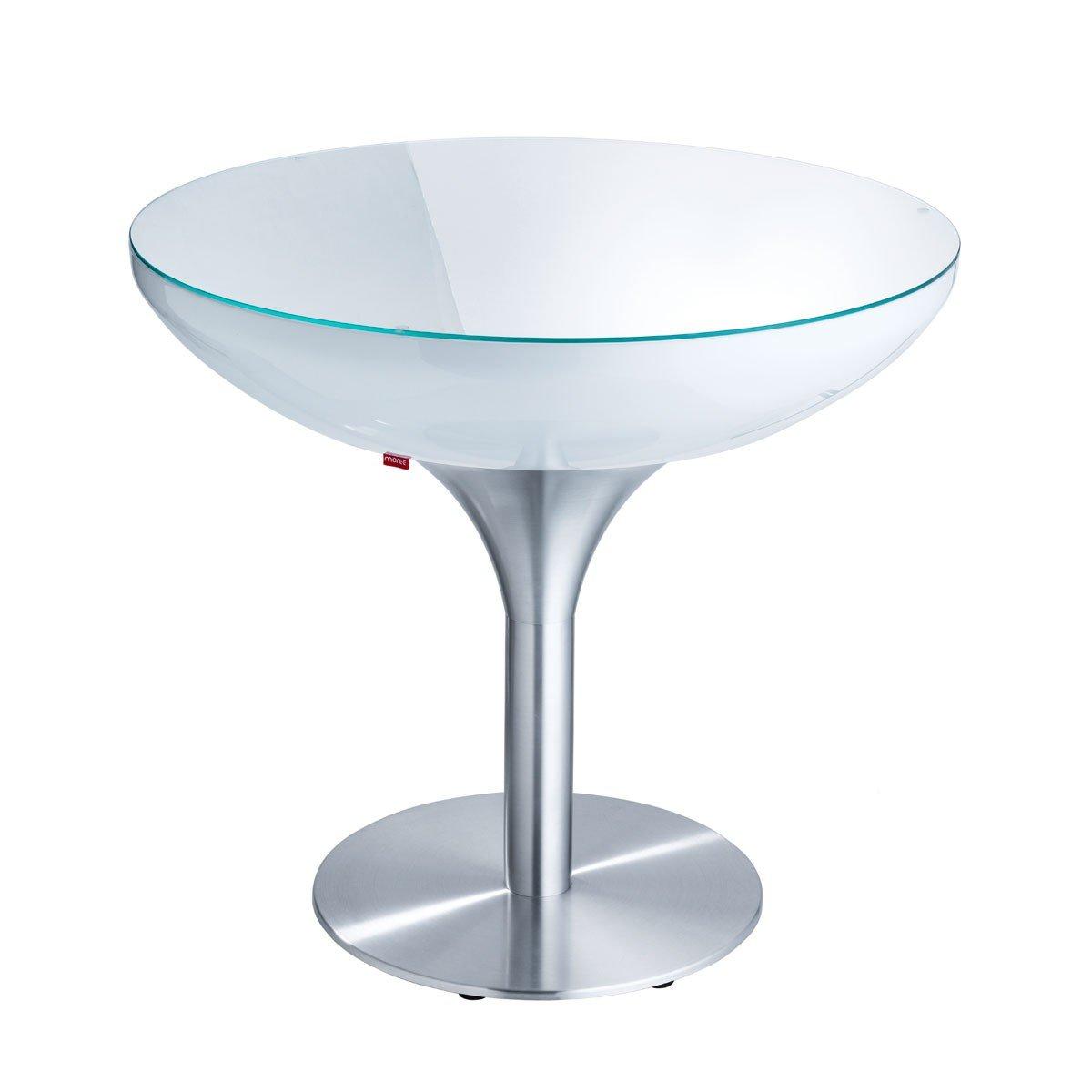moree Lounge Tisch Lounge 75, Metallisch/Weiß, Aluminium/ Kunststoff, 07-05-02