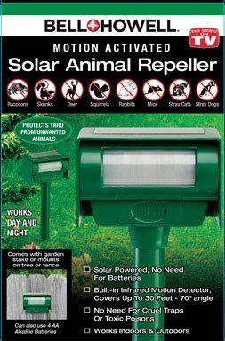 SOLAR PEST REPELLER by BELL + HOWELL MfrPartNo 50104CL by Caprice Electronics, Inc.