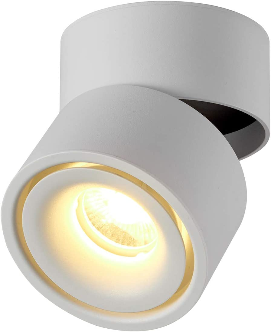Topmo 10w Indoor Led Ceiling Spotlight Fixture Surface Mounted Accent Spot Light Adjustable Wall Spot Lighting 10x10cm Not Dimmable Aluminum Wall Lamp Or Spot Light White Warm White Amazon Com