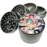 "Sailor Moon Group Image Titanium 4 PC Magnetic Grinder 2.1"" Hand Mueller D-553"