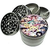 """Sailor Moon Group Image Titanium 4 PC Magnetic Grinder 2.1"""" Hand Mueller D-553"""