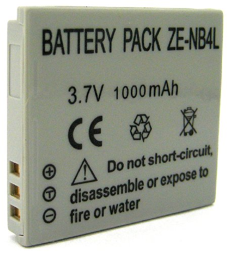 Zeikos ZE-NB4L Rechargeable Lithium Replacement Battery For Canon NB-4L, Compatible with Canon IXUS 115 HS, IXY 400F, PowerShot 600, A5, ELPH 100 HS, ELPH 300 HS, SD1000, SD600, SD750 & SD940 IS