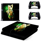 Beyone Vinyl Decal Protective Skin Cover Sticker for Sony PS4 Console And 2 Dualshock Controllers