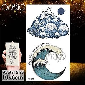 5Pcs- geométrica redonda camping Galaxy engomada del tatuaje del ...