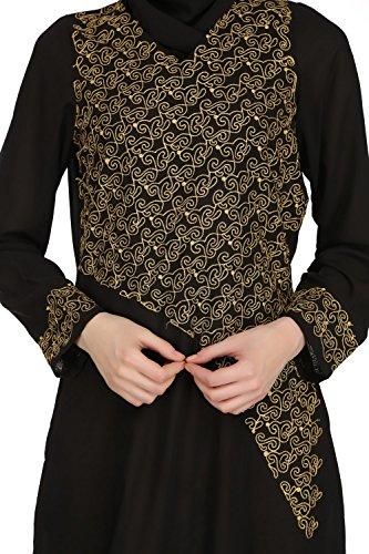 MyBatua negro tradicional musulmán ocasión y fiesta desgaste abaya burqa AY-523