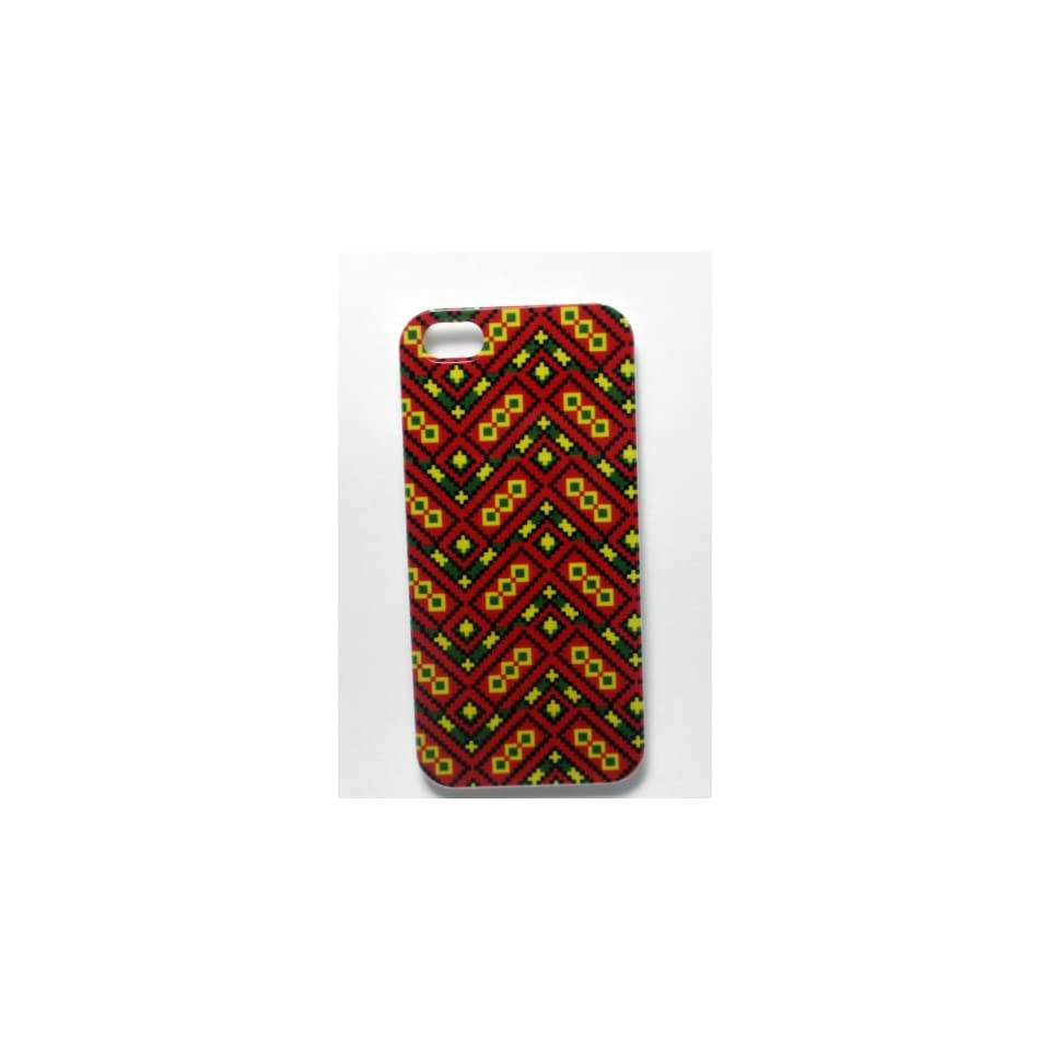 Ankara iPhone Case   Red Hard Unique Latest Uncommon Colorful African Print Design Cover For Your iPhone 5   For Men, Women, Girls And Boys   Stylish and Perfect Fit   For Your AT&T, Verizon, Sprint Device Great Lifetime Guarantee.