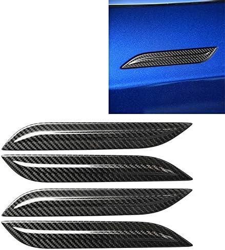 テスラモデル3用4PCS車のドア外側ハンドルパネルカーボンファイバー装飾ステッカー ハイクオリティ