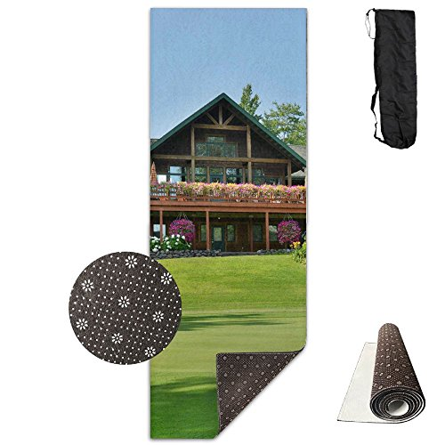 Wisconsin Golf Course Yoga Mat - Advanced Yoga Mat - Non-Slip Lining - Easy To Clean - Latex-Free - Lightweight And Durable - Long 180 Width 61cm by Mmim