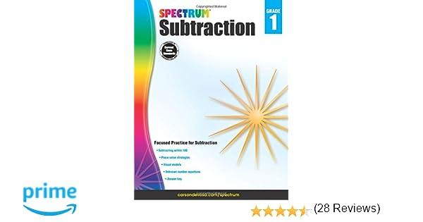 Subtraction, Grade 1 (Spectrum): Spectrum, Carson-Dellosa ...